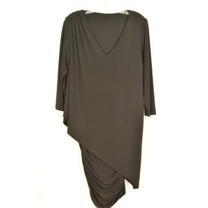 Last Tango Dresses - Last Tango dress black SZ XL ruching on sides drap